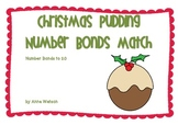 Christmas Pudding Number Bonds Match