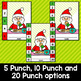 Christmas Punch Cards Editable Classroom Decor