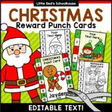 Christmas Punch Cards Editable Classroom Decor