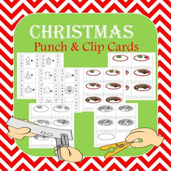 Christmas Punch and Clip Fine Motor Fun
