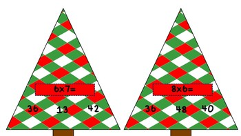 Christmas Multiplication Poke Cards...fun math facts practice