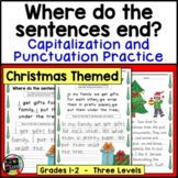 Christmas Writing, Punctuation, and Capitalization; Where