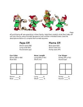 Christmas Punnett Square Practice