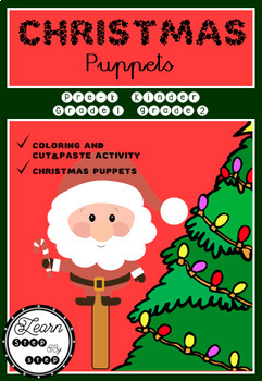Pre K Christmas Craft.Christmas Puppets Craft Activity Pre K Kinder Grades 1 And 2