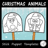 Christmas Puppets - Animals with a Santa Hat