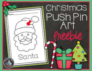 Christmas Push Pin Art FREEBIE