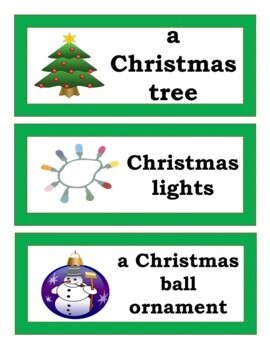 Christmas Puzzle Game, Word Wall, and PowerPoint Presentation