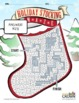 Christmas Puzzle Maze - Holiday Puzzles, Games - Stocking Maze - B&W Print Ready