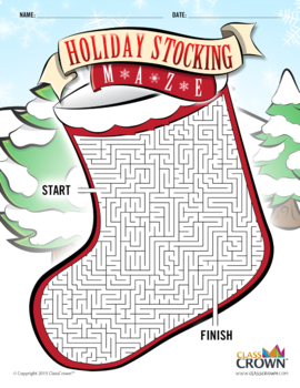 Christmas Puzzle Maze - Holiday Puzzles, Games - Stocking