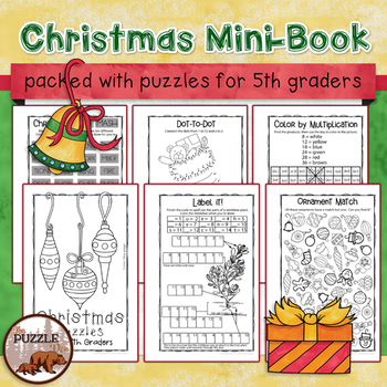 Christmas Puzzle Mini-Book for Fifth Graders