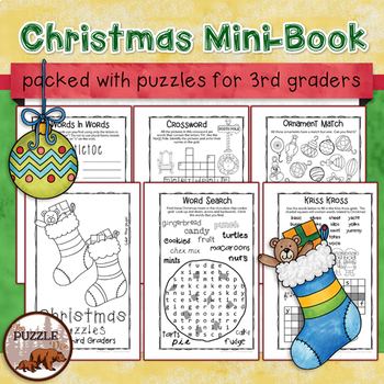 Christmas Puzzle Mini-Book for Third Graders