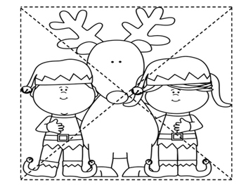 Christmas Cutting Puzzle Pages