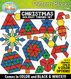 Christmas Puzzle Pattern Blocks Clipart {Zip-A-Dee-Doo-Dah Designs}