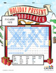 Christmas Puzzle Wordsearch - Holiday Puzzles, Games - B&W Print Ready