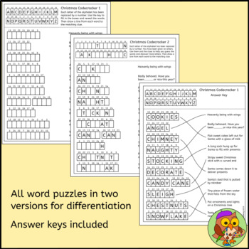 Christmas Puzzles Bundle – Christmas Crosswords, Christmas Word Searches + More