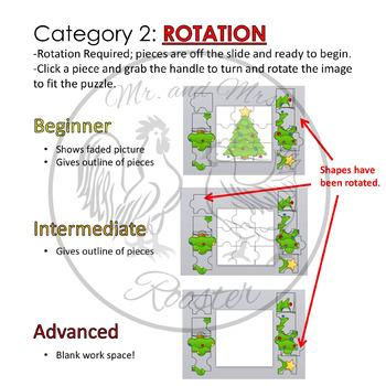 Christmas Puzzles - Google Classroom Puzzles PK-8 {Technology Activity}