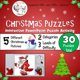 Christmas Puzzles - Interactive PowerPoint Puzzle PK-5 {Te