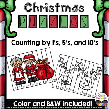 Christmas Puzzles: Counting by 1's, 5's, 10's