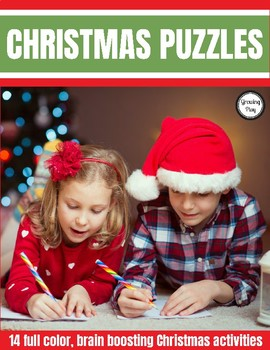 Christmas Puzzles Packet - Brain Boosting Mazes, Look and Finds and MORE