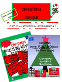 Christmas Puzzles and  Activities Bundle for Upper Grades with Science and SS