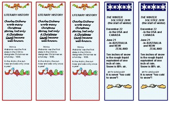 Christmas Puzzles and Bookmarks Freebie