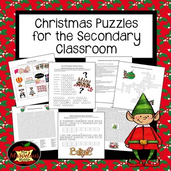 Christmas Puzzles for Secondary