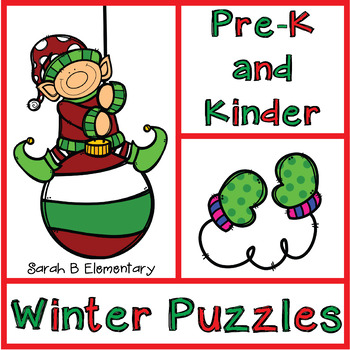 Christmas Puzzles for PreK and Kindergarten (Counting and Matching)