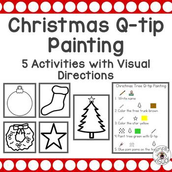 Christmas Q-tip Painting