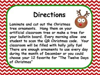Christmas QR Code Classroom Fun