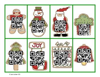 Christmas QR Code Equal Signs FREEBIE!!!