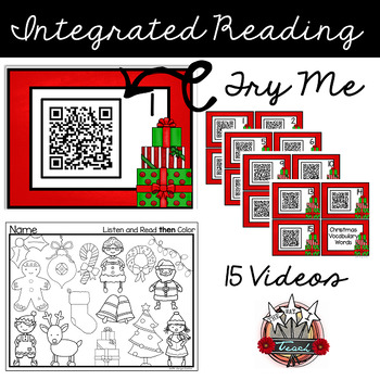 Christmas QR Codes: Listen, Read, Find and Color