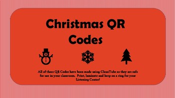 Christmas QR Codes for Listening Centers