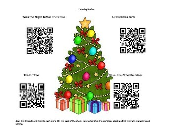 Christmas QR code Listening Station