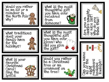 Christmas Question Cards-Instacards