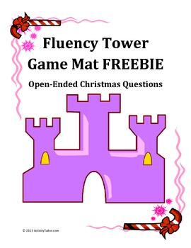 Christmas Questions Game Mat FREEBIE for language or stutt