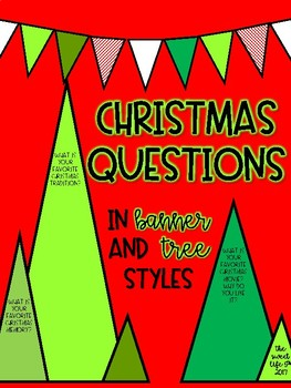 Christmas Questions Prompts: banner and tree style