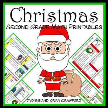 Christmas No Prep Common Core Math (2nd grade)