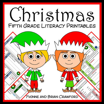 Christmas No Prep Common Core Literacy (5th grade)