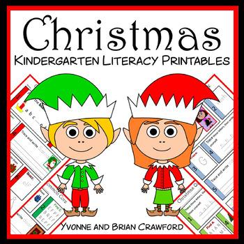 Christmas No Prep Common Core Literacy (kindergarten)