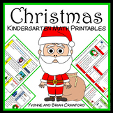 Christmas No Prep Common Core Math (kindergarten)
