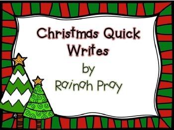 Christmas Quick Writes