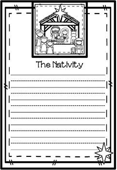Christmas Nativity Quilt Bundle - Picture & Writing Templates ~ Bible Theme