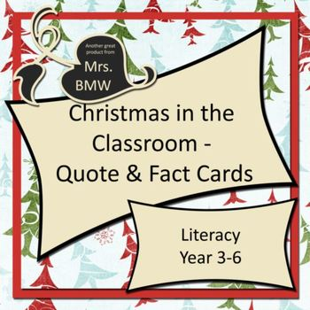 Christmas Quote & Fact Cards - activity cards for literacy, art & craft
