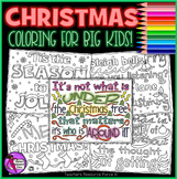 Christmas Coloring Pages Sheets: Christmas Doodle Quote Coloring Pages