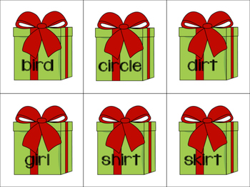 Christmas R-Controlled Vowel Sort (ER, IR and UR)