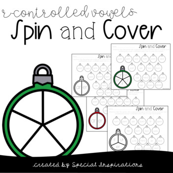 Christmas R-Controlled Vowels Spin & Cover