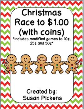 Christmas Race to $1.00 with coins (includes modified versions)