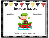 Christmas Racing Elves  Adding and Subtracting from 20, 60, 100