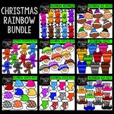 Christmas Clipart Rainbow MEGA Bundle {Creative Clips Clipart}