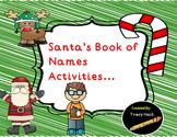 Christmas Read Aloud Activities-  Santa's Book of Names